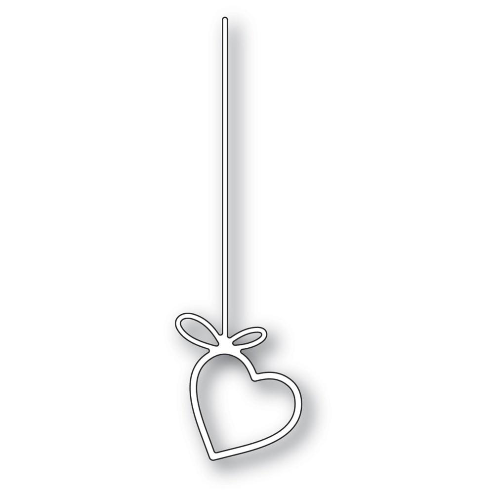 Poppystamps Hanging Heart 2288