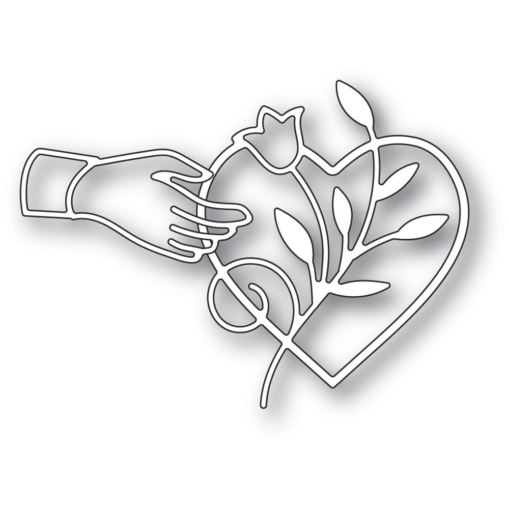 Poppystamps Heart Favor 2290