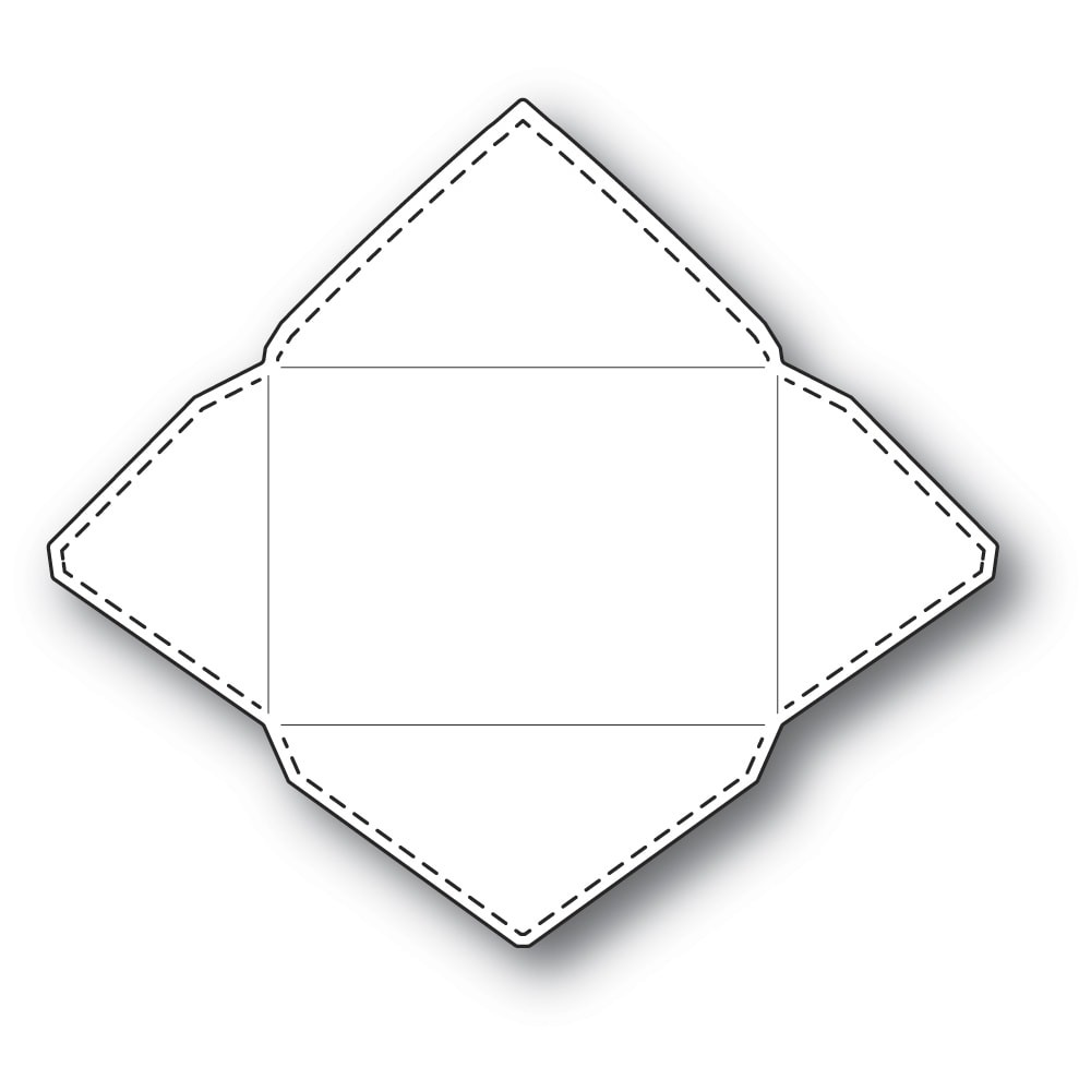 Poppystamps Stitched Envelope 2294