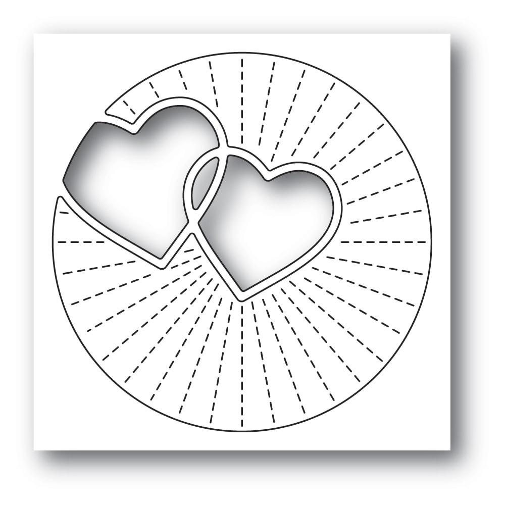 Poppystamps Twinkling Hearts 2296