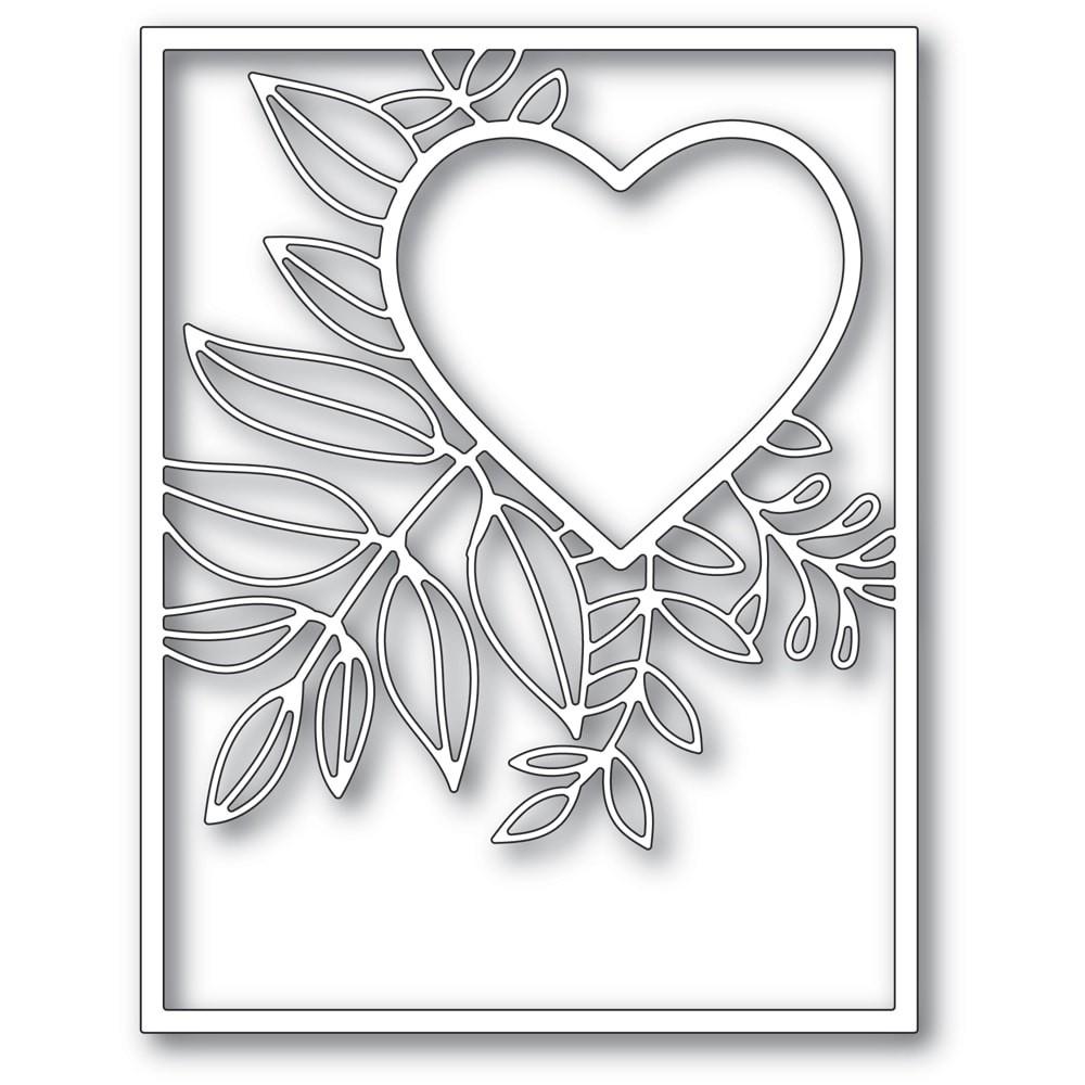 Poppystamps Graceful Heart Frame 2298