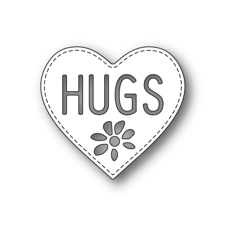 Poppystamps Hugs Heart 2299