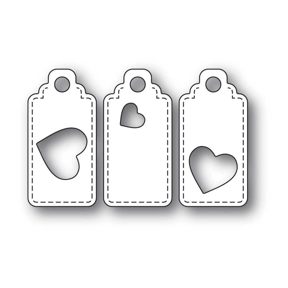 Poppystamps Heart Tag Trio 2302