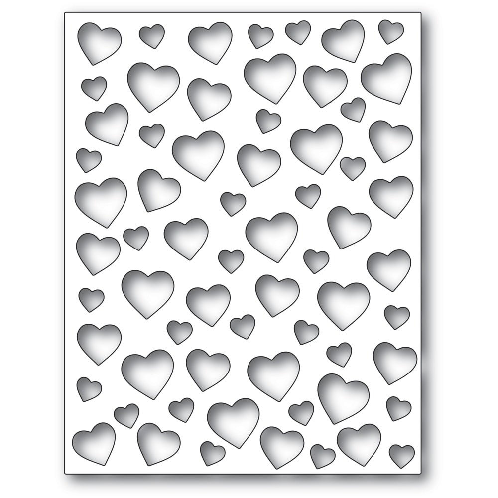 Poppy Stamps Confetti Heart Plate 2303