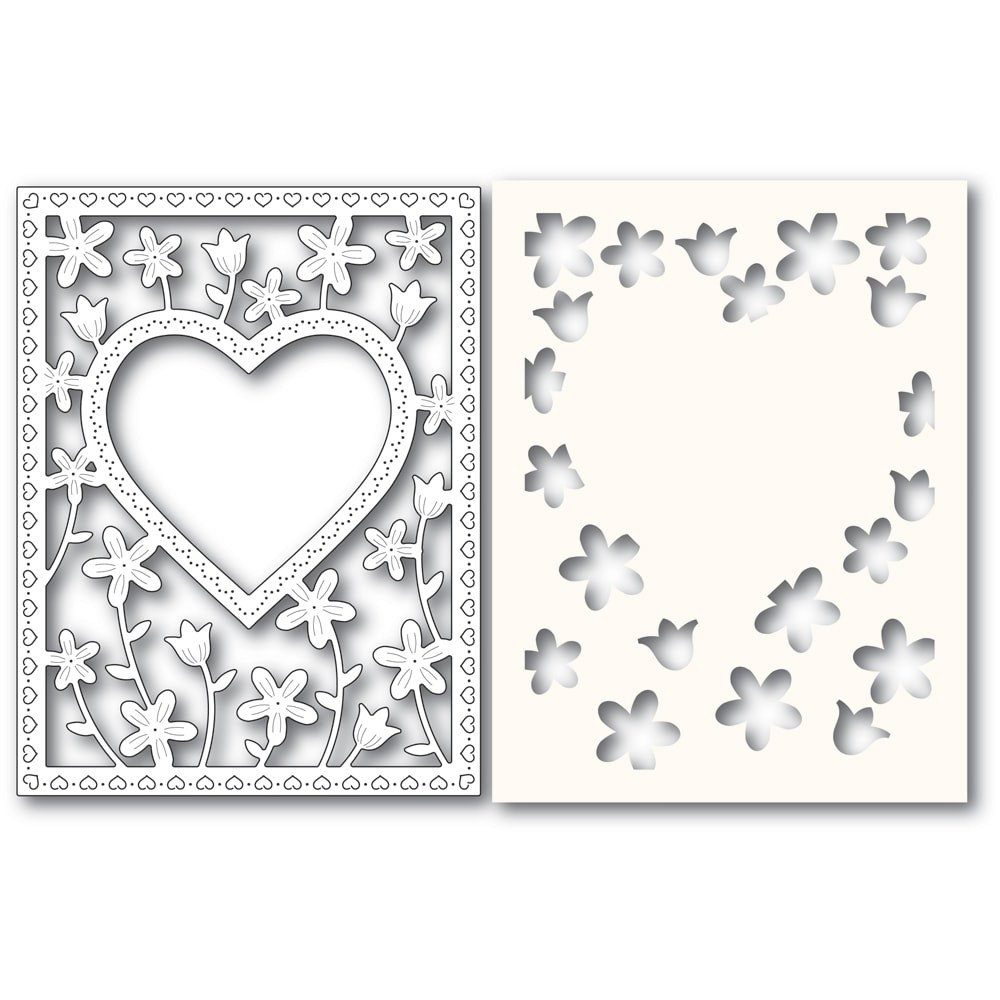 Poppystamps Meadowblossom Frame and Stencil 2307