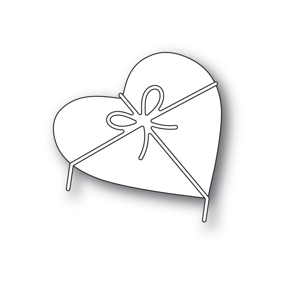 Poppystamps Heart and Bow 2313