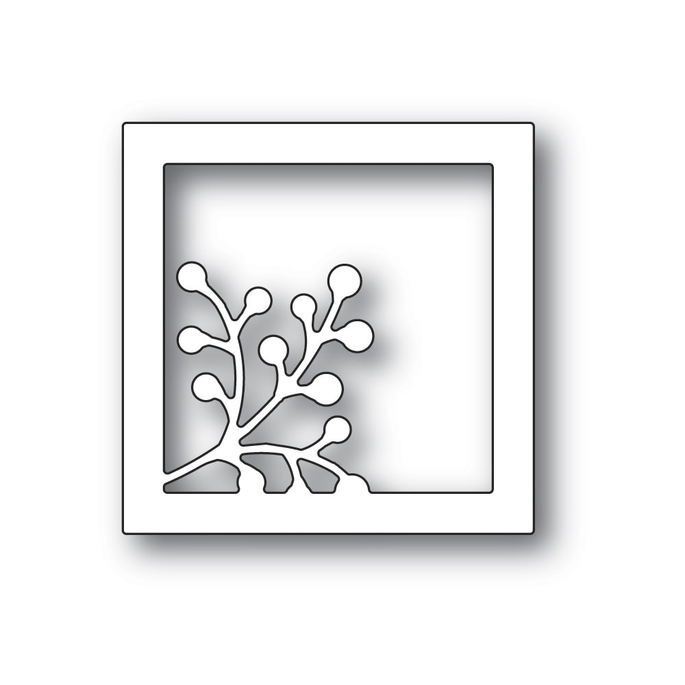 Poppystamps Berry Square Frame craft die 2324
