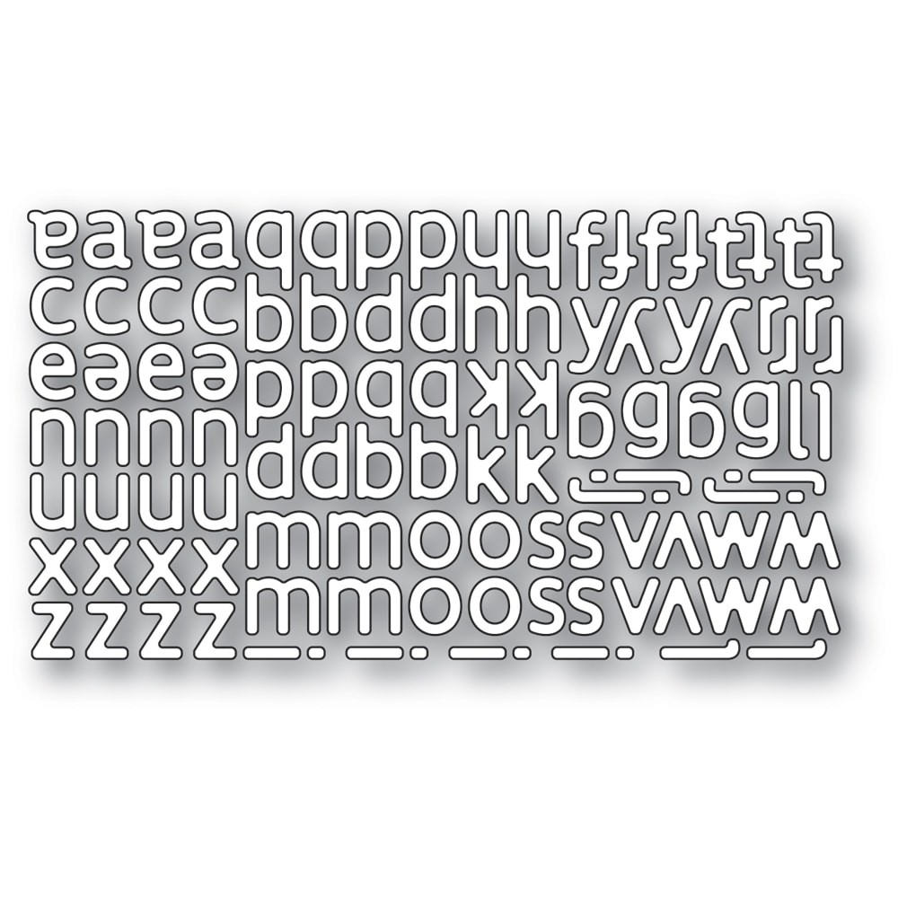 Poppystamps Poetic Lowercase Alphabet 2332