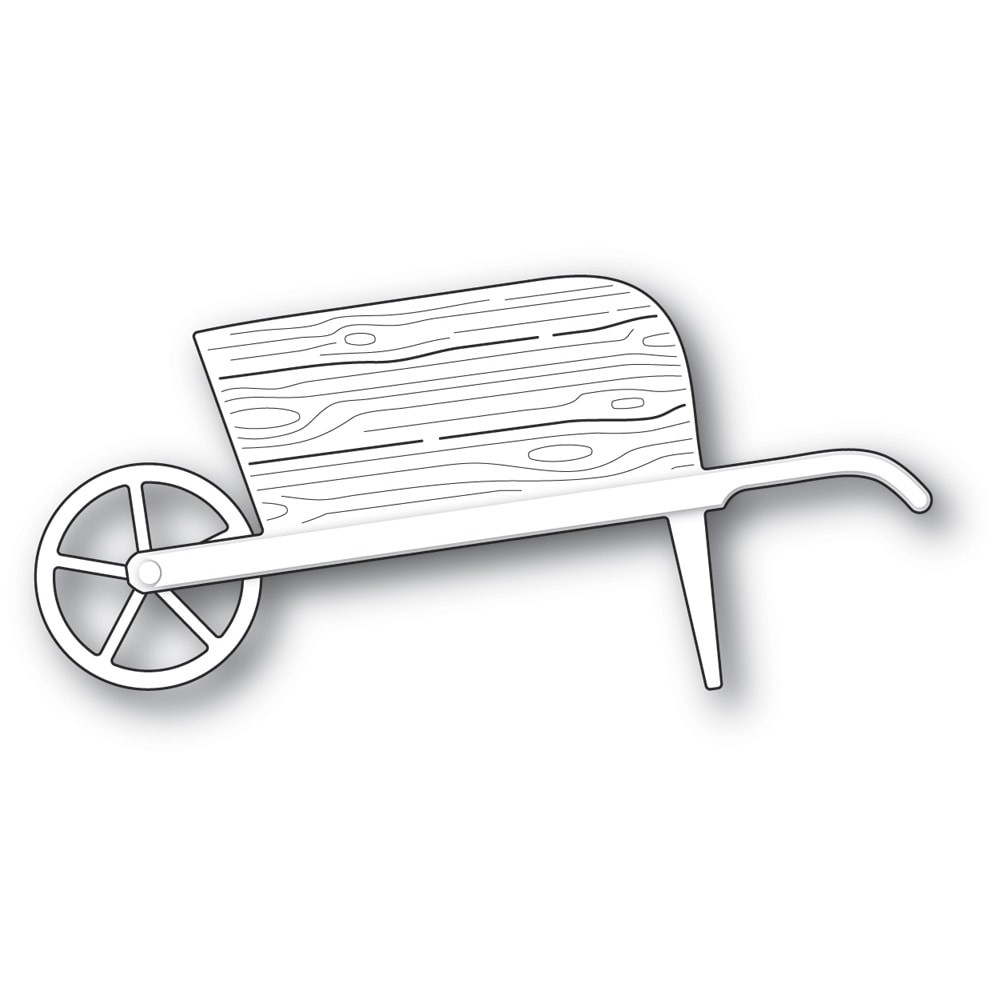 Poppystamps Country Garden Wheelbarrow 2336