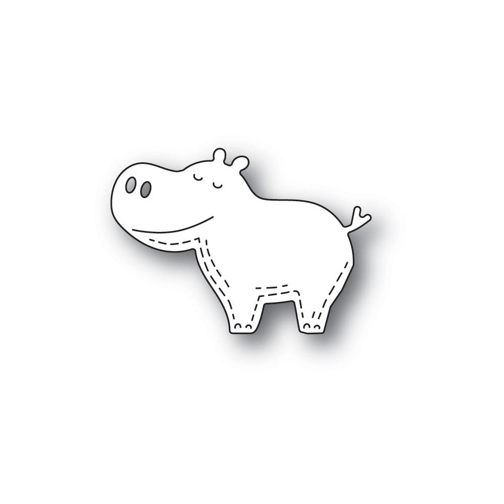 Poppystamps Whittle Happy Hippo 2369