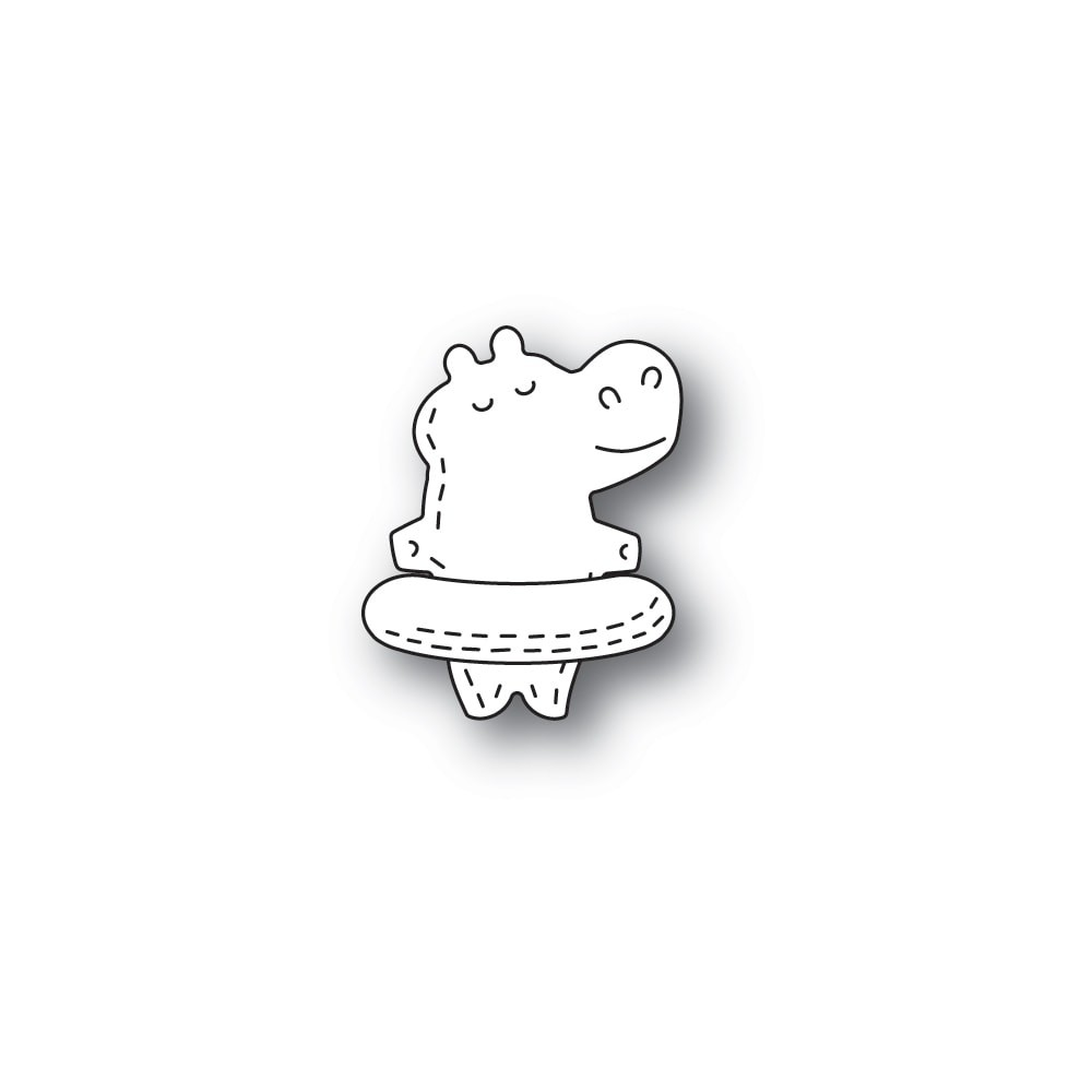 Poppystamps Whittle Floating Hippo 2371