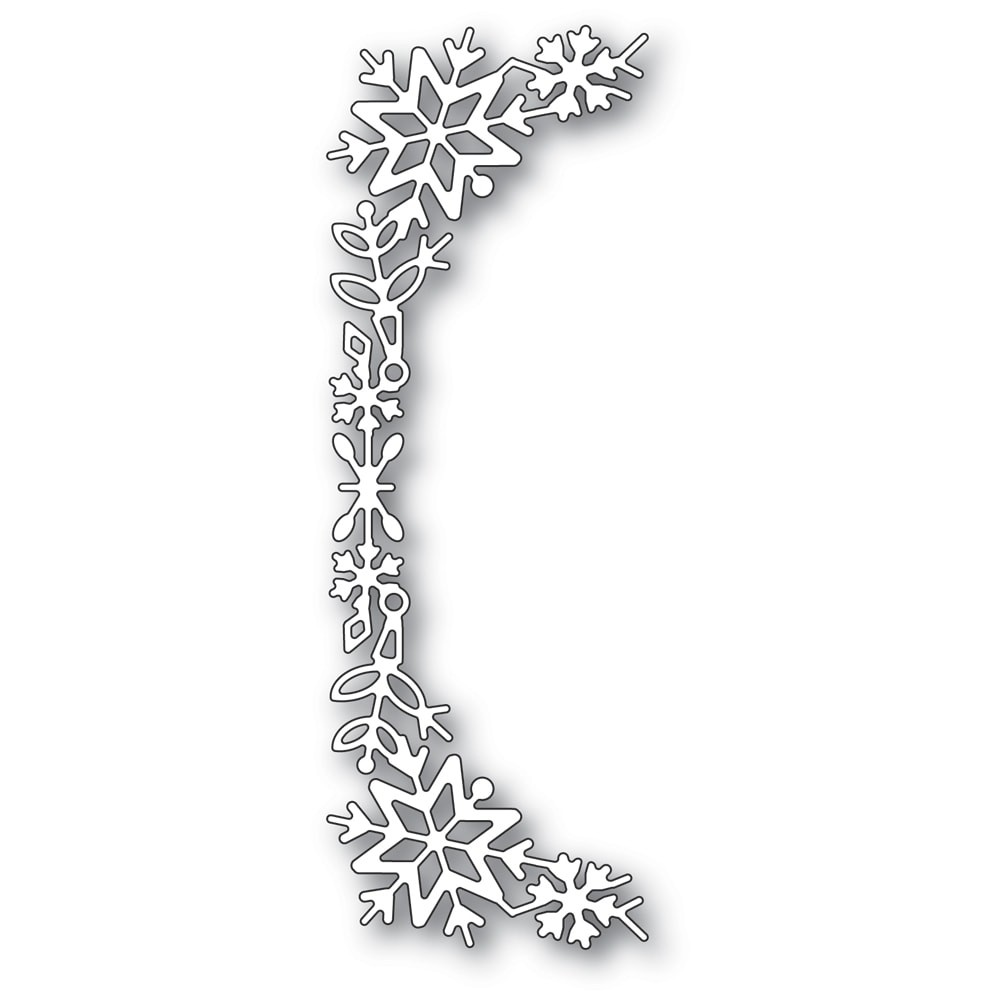 Poppystamps Snowflake Tall Curve Border 2400