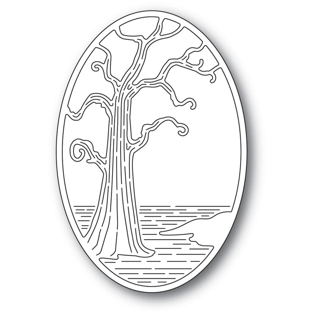 Poppystamps Twisted Tree Oval Die 2401