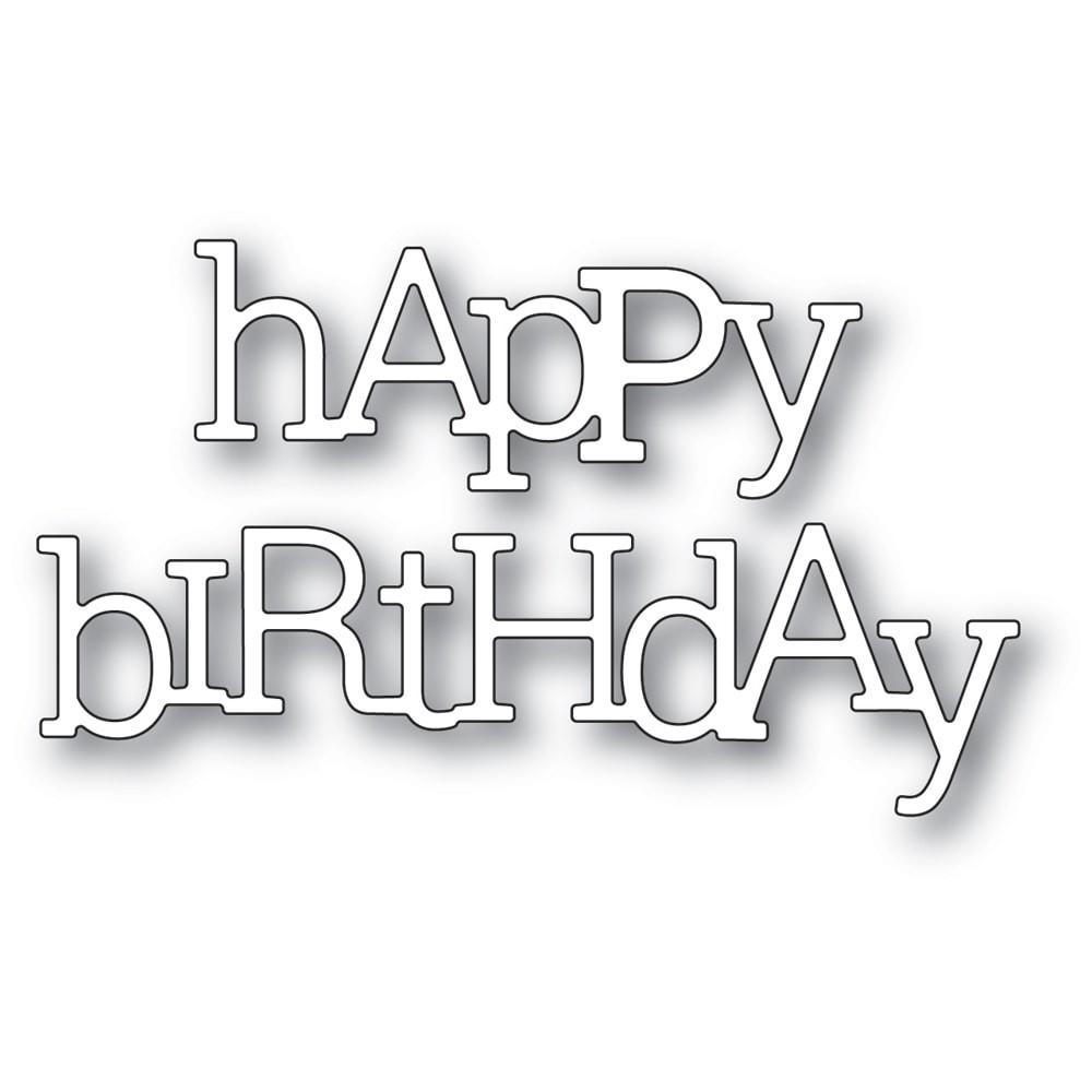 Poppystamps Playful Happy Birthday 2406