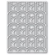 poppystamps Arched Deco Plate 2410