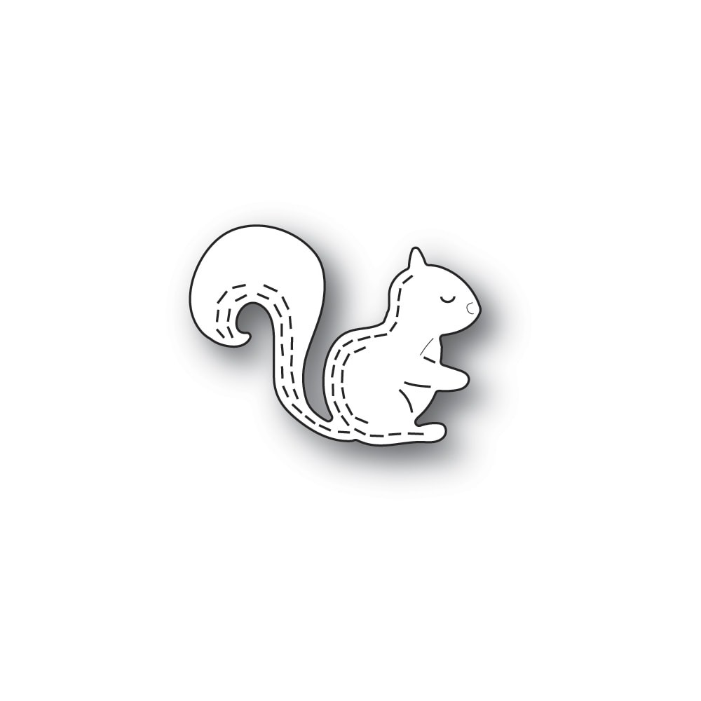 Poppystamps Whittle Forest Squirrel 2431