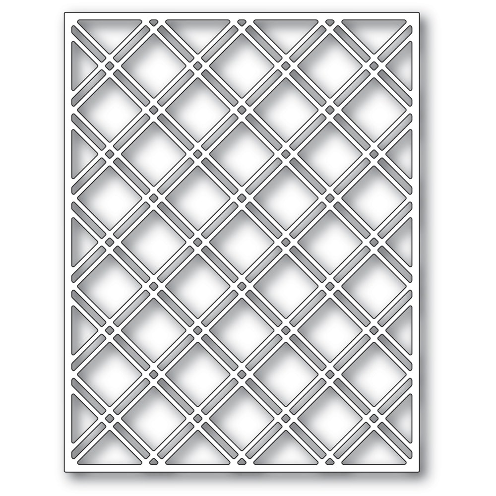 Poppystamps Double Diamond Lattice Plate 2436
