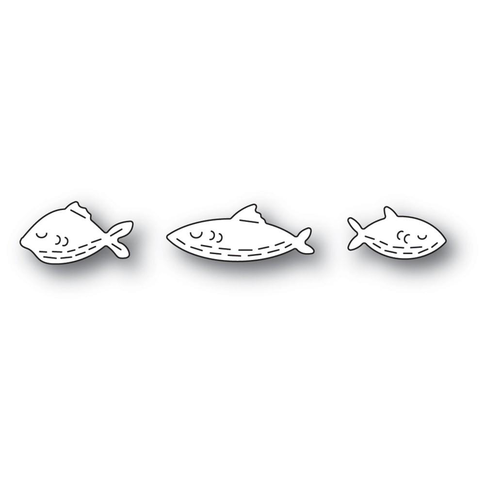 Poppystamps Whittle Fish Trio 2450