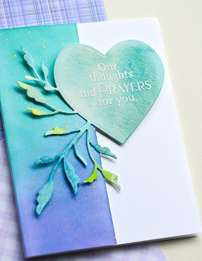Poppystamps Leaf Flourish Heart 2458