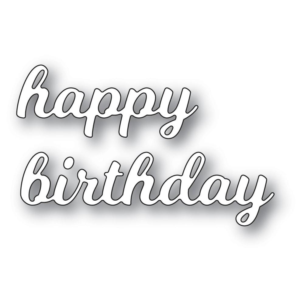 Poppystamps Splendid Happy Birthday 2461