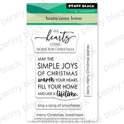 Penny Black Hearts Come Home mini stamp set 30-849