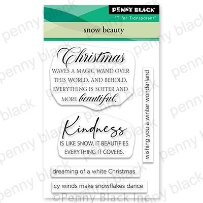 Penny Black Snow Beauty mini stamp set 30-850