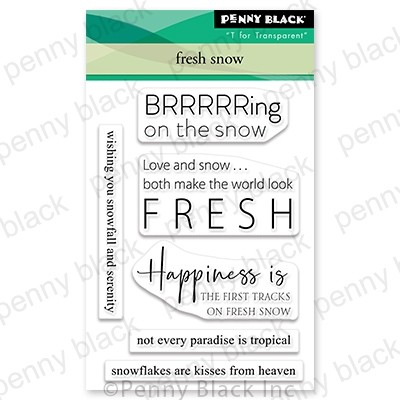 Penny Black Fresh Snow mini stamp set 30-852