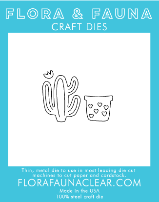 Flora and Fauna Cactus with Pot Die (30048)