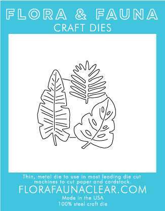 Flora and Fauna Tropical Leaves Die 30055