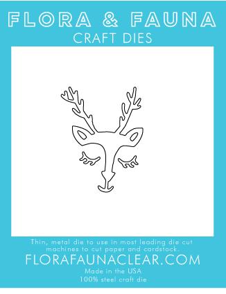 Flora and Fauna Deer Face Die 30067