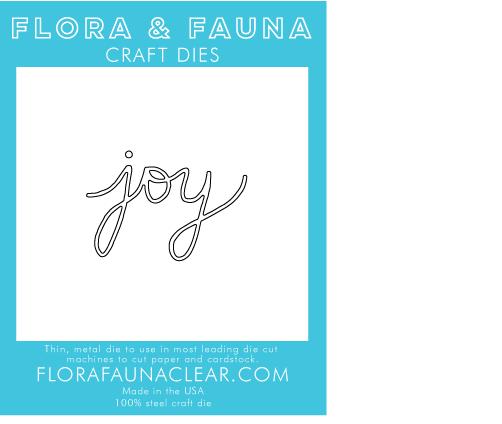 Flora and Fauna Joy Word Die 30068