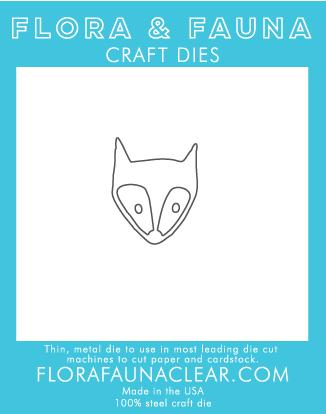 Flora and Fauna Fox Head Die 30078