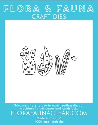 Flora and Fauna Mini Cactus Trio Die 30084