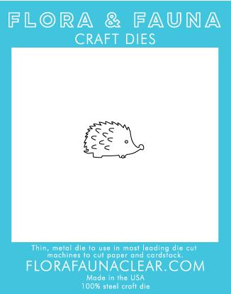 Flora and Fauna Woddland Hedgehog Die 30087