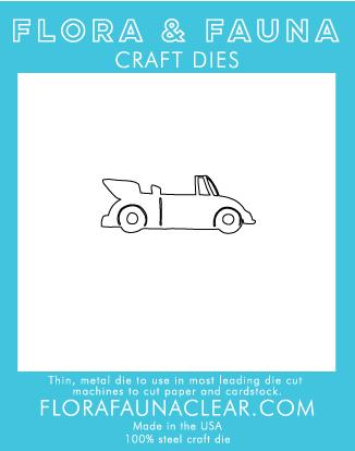 Flora and Fauna Convertible Car Die 30092