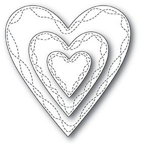 Wrapped Stitch Hearts 30116