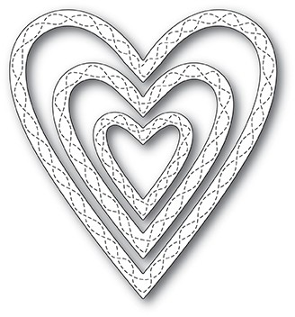 Wrapped Stitched Heart Frame die 30119