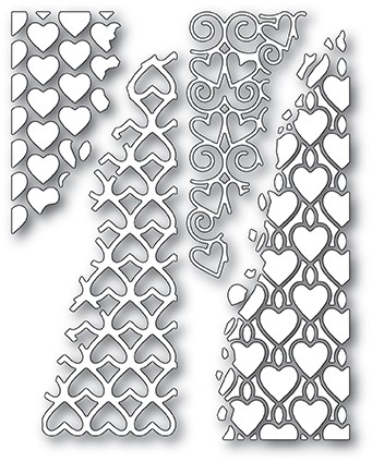 Distressed Heart Collage die 30121