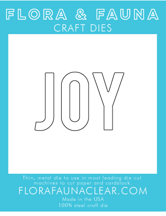 Flora and Fauna Typed Joy Die 30124