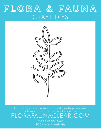Flora and Fauna Leaf Branch Die 30128