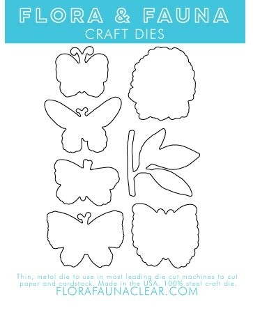 Flora and Fauna Butterfly Dreams Matching Dies 30162