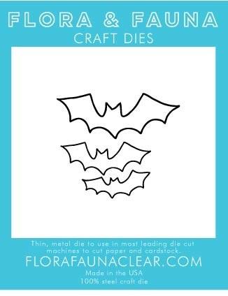 Flora and Fauna OUTLINE BAT TRIO 30188