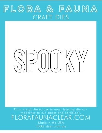 Flora and Fauna SPOOKY TYPED 30190