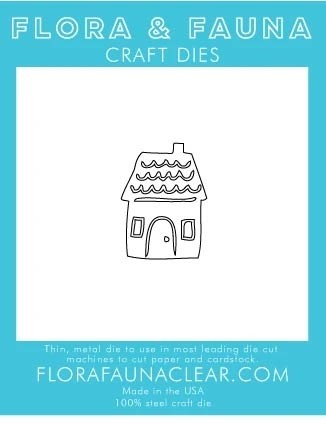 Flora and Fauna  Gingerbread House Die 30204