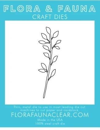 Flora and Fauna Laural Wreath Branch Die 30206