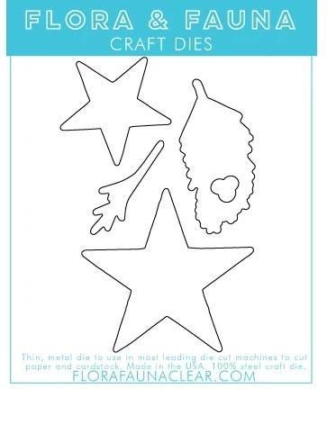 Flora and Fauna  Paper Lantern Star Matching Die 30219