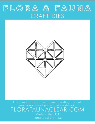 Flora and Fauna Gem Heart 30230