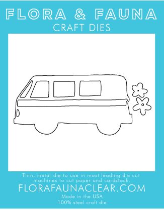 Flora and Fauna Large Van with Flowers 30253