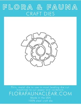 Flora and Fauna Succulent 2 Spiral Die