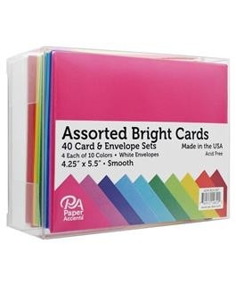 ASSORTED CARD & ENVELOPE SETS - smooth bright